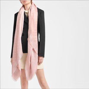 Louis Vuitton Monogram Print Shine Shawl Pink Gold